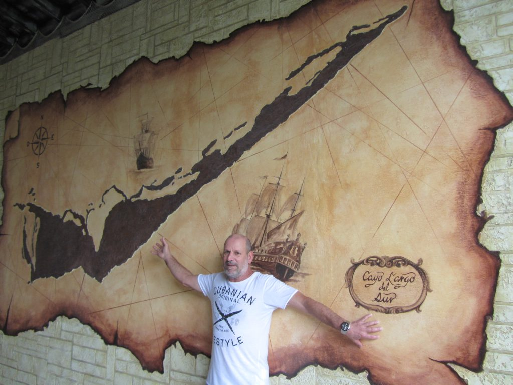 Mapa de Cayo Largo como en tiempos de la colonia.